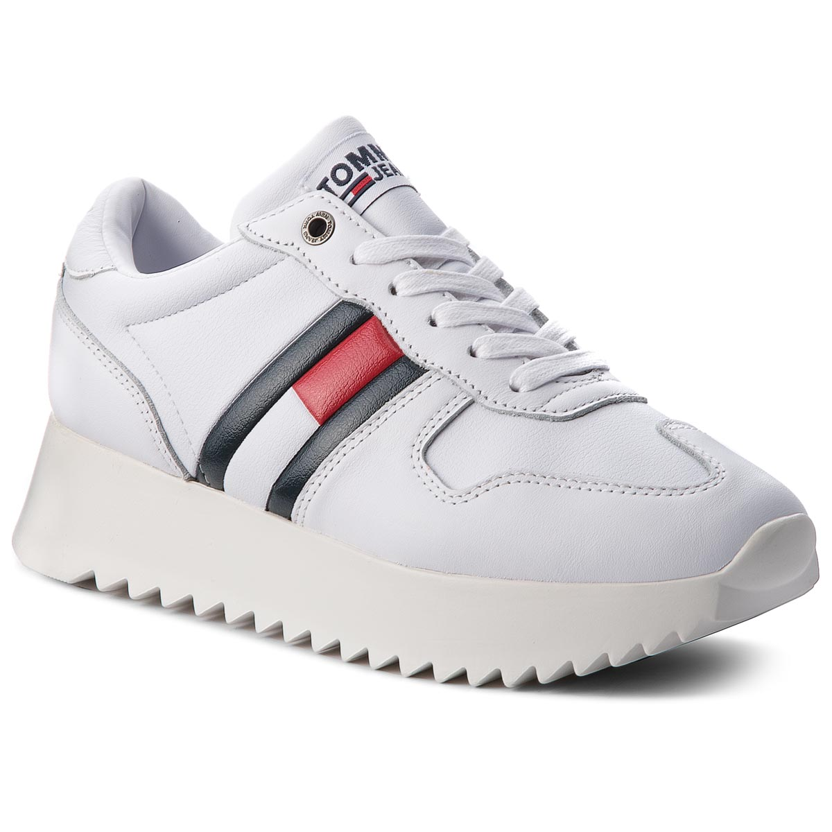 Sneakersy TOMMY JEANS - High Cleated Sneaker EN0EN00288 Rwb 020