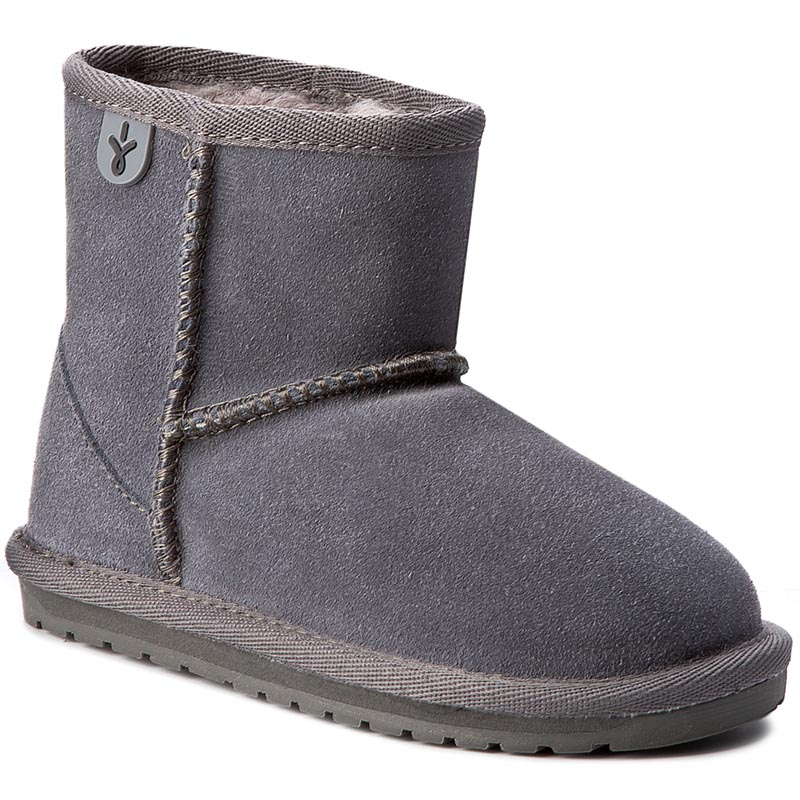 Buty EMU AUSTRALIA - Wallaby Mini K10103 Charcoal/Anthracite