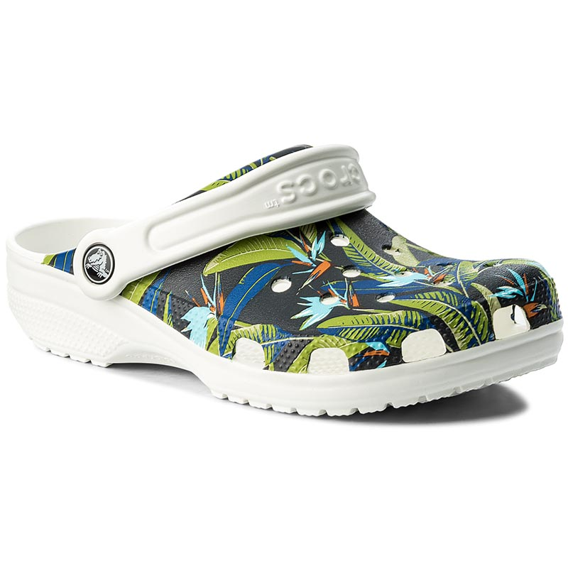 Klapki CROCS - Classic Tropical Iv Clog 204637 White