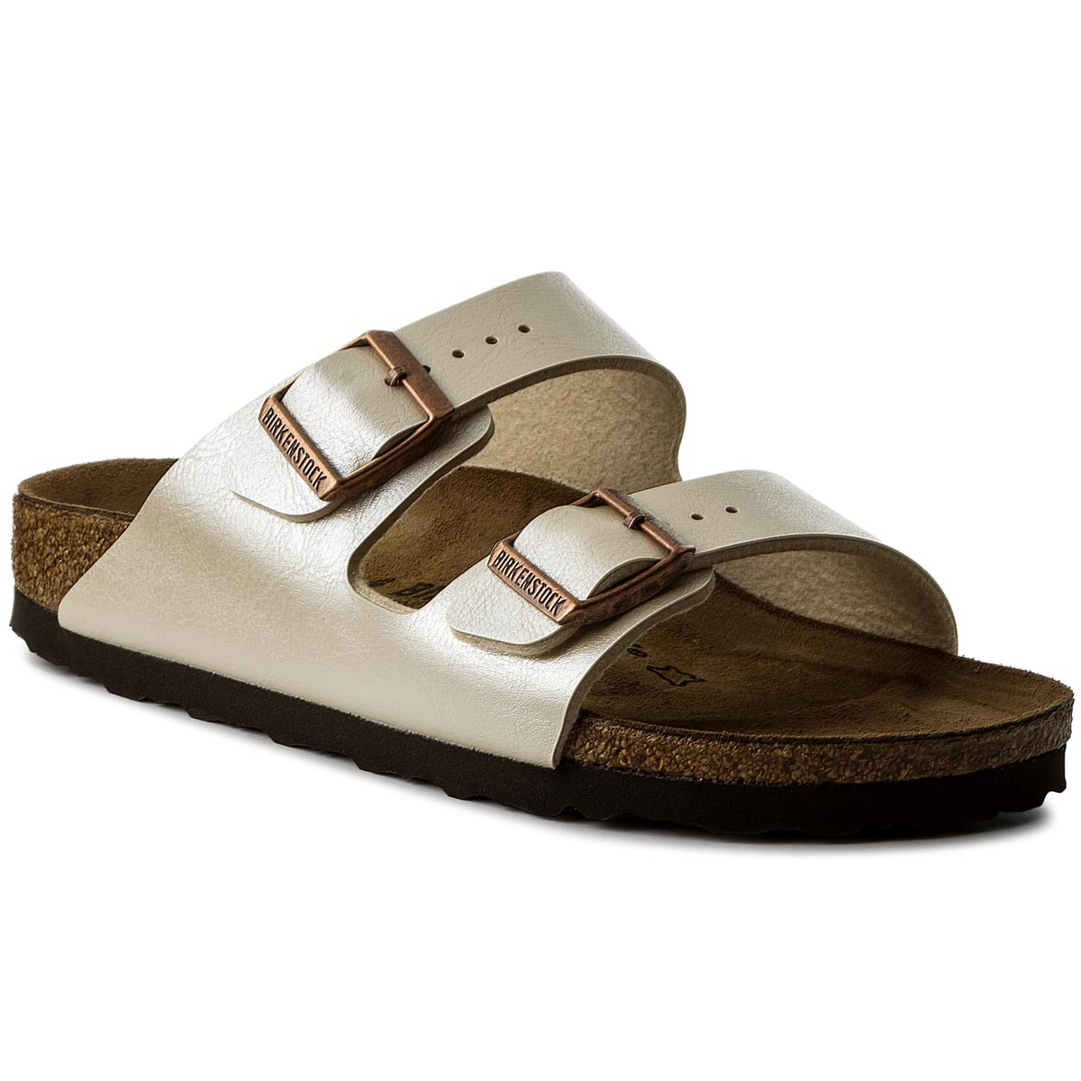 Klapki BIRKENSTOCK - Arizona Bs 1009921  Graceful Pearl White