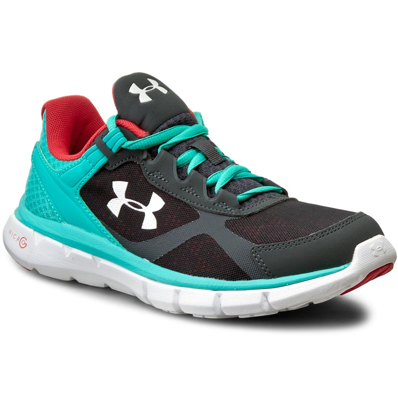 Buty UNDER ARMOUR - Ua micro G Velocity Rn 1258731-008 Sty/Nep/Wht