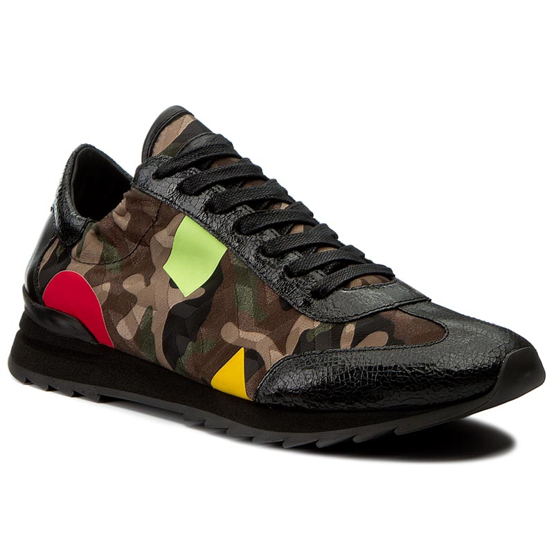 Sneakersy PHILIPPE MODEL - Playstation PSLU CT01 Camouflage Brown