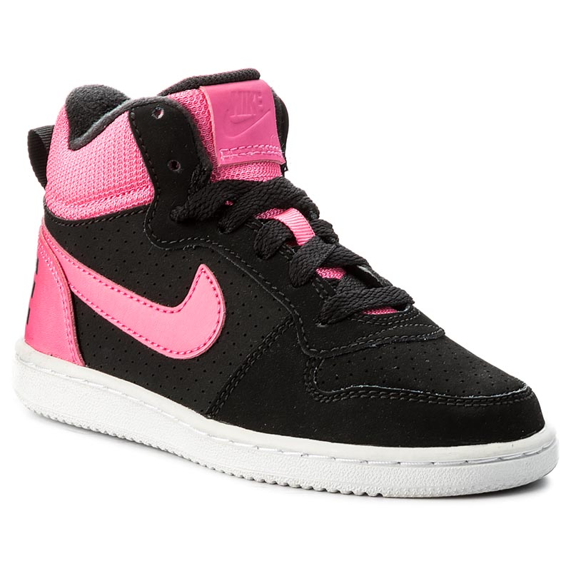 Buty NIKE - Court Borought Mid (PS) 845108 006 Black/Pink Blast