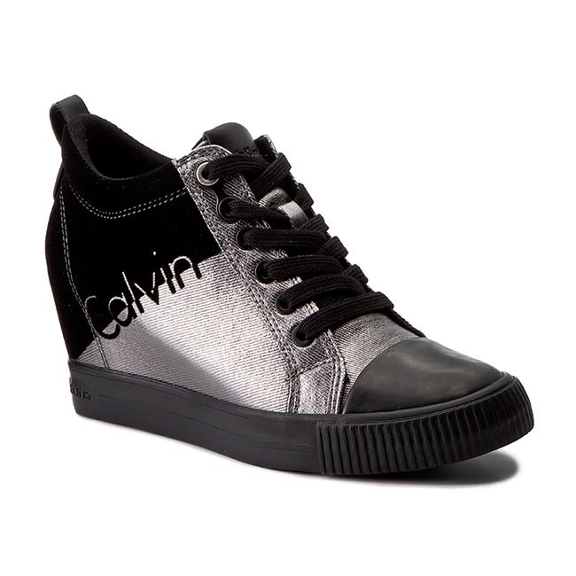 Sneakersy CALVIN KLEIN JEANS - Rory R0646 Pewter/Black