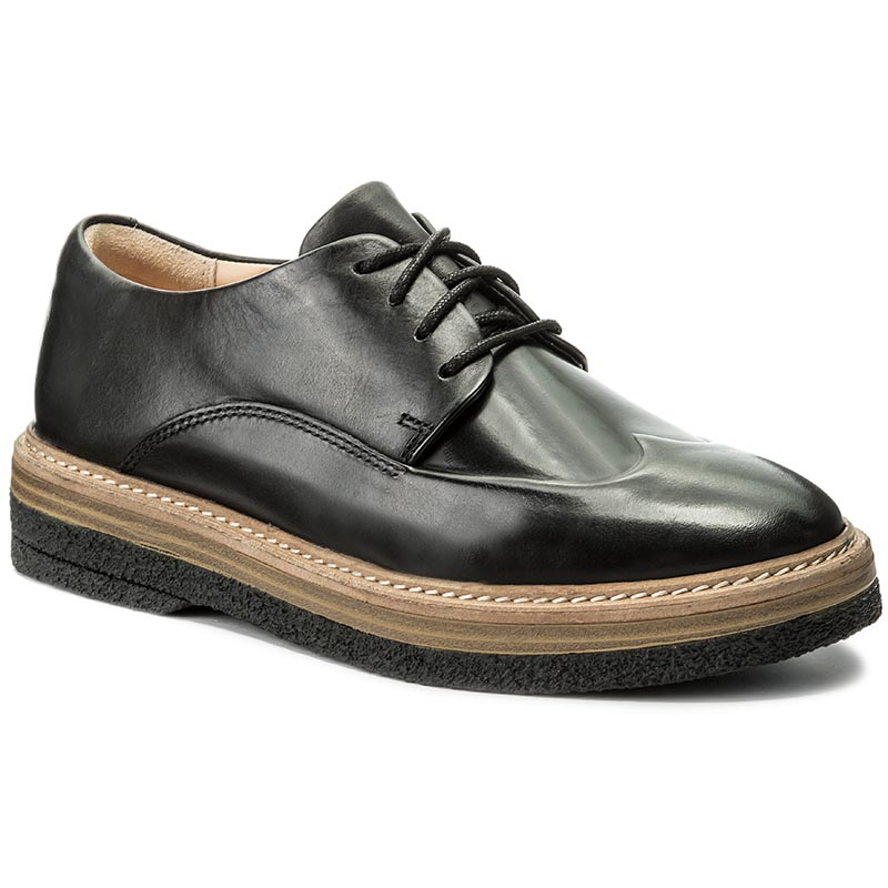 Oxfordy CLARKS - Zante Zara 261266484 Black Leather