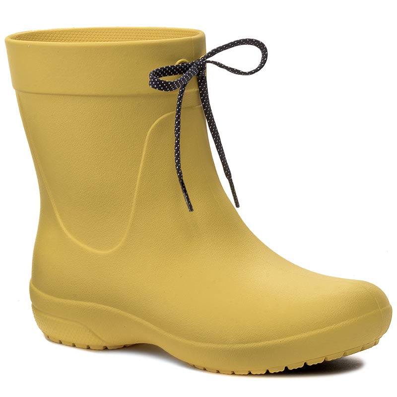 Kalosze CROCS - Freesail Shorty Rainboot 203851 Lemon