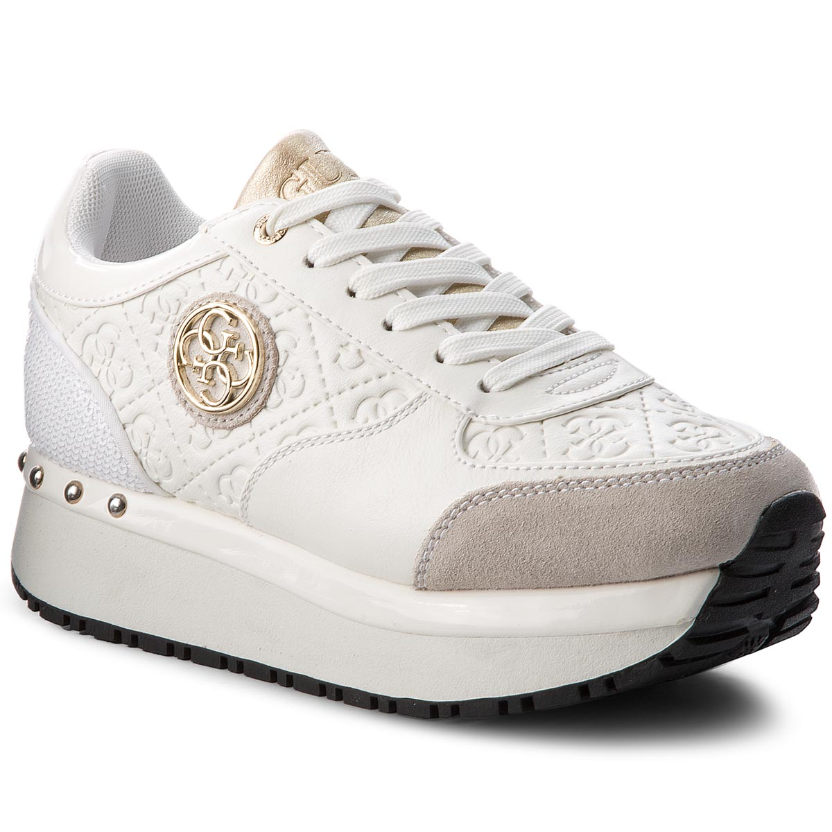 Sneakersy GUESS - FLTIF3 PEL12 WHITE