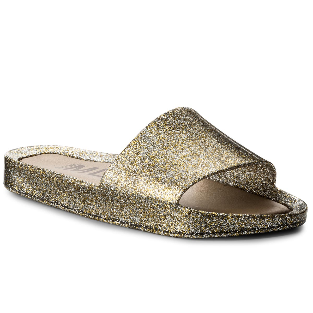 Klapki MELISSA - Beach Slide Shine Ad 32291 Mixed Golden Glitter 03771