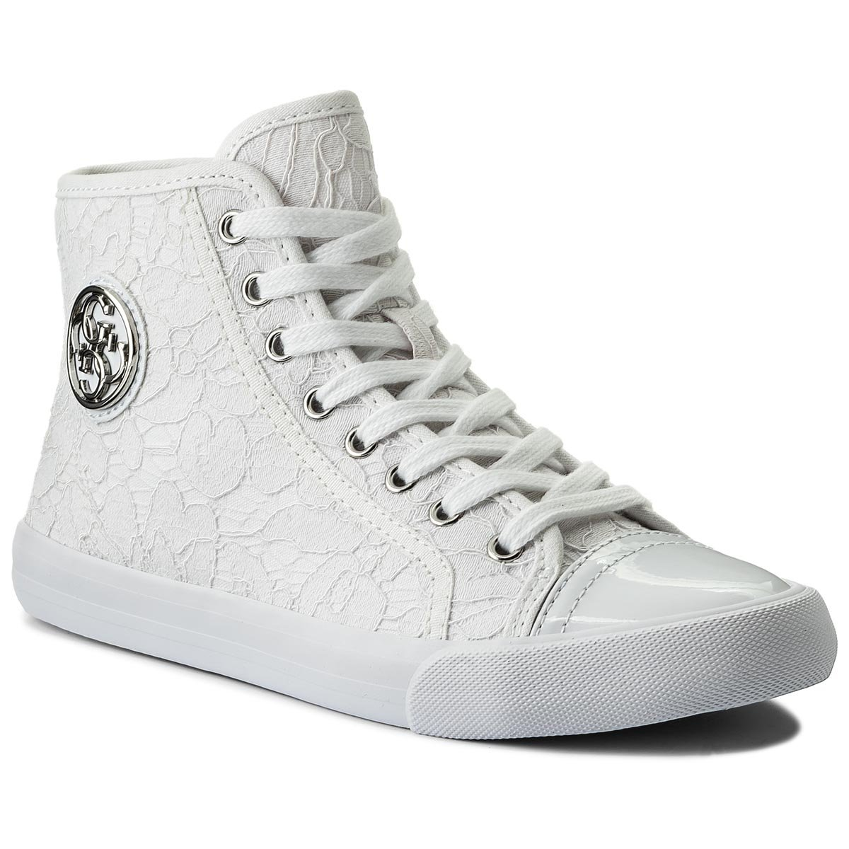 Sneakersy GUESS - Evvy FLEVY1 LAC12  White