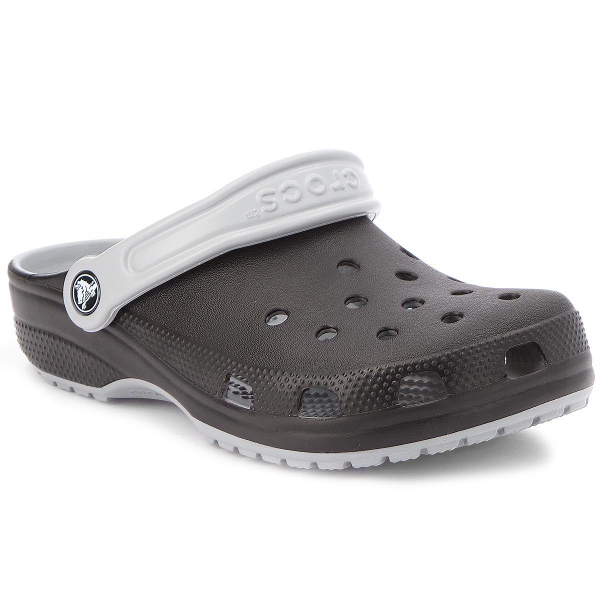 Klapki CROCS - Classic Carbon Graphic Clg 205108 Light Grey