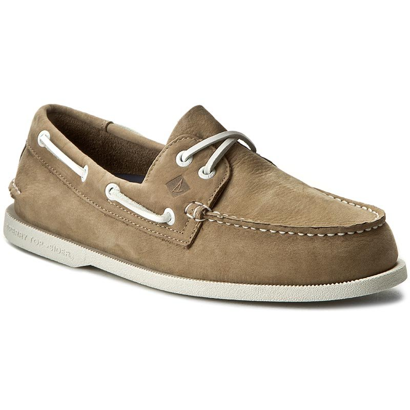 Mokasyny SPERRY - A/O 2 Eye Washable STS12258 Taupe