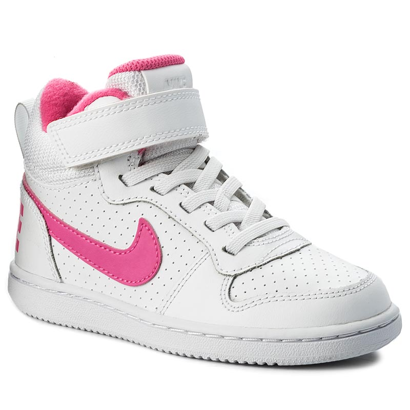 Buty NIKE - Court Borough Mid 870031 100 White/Pink Blast