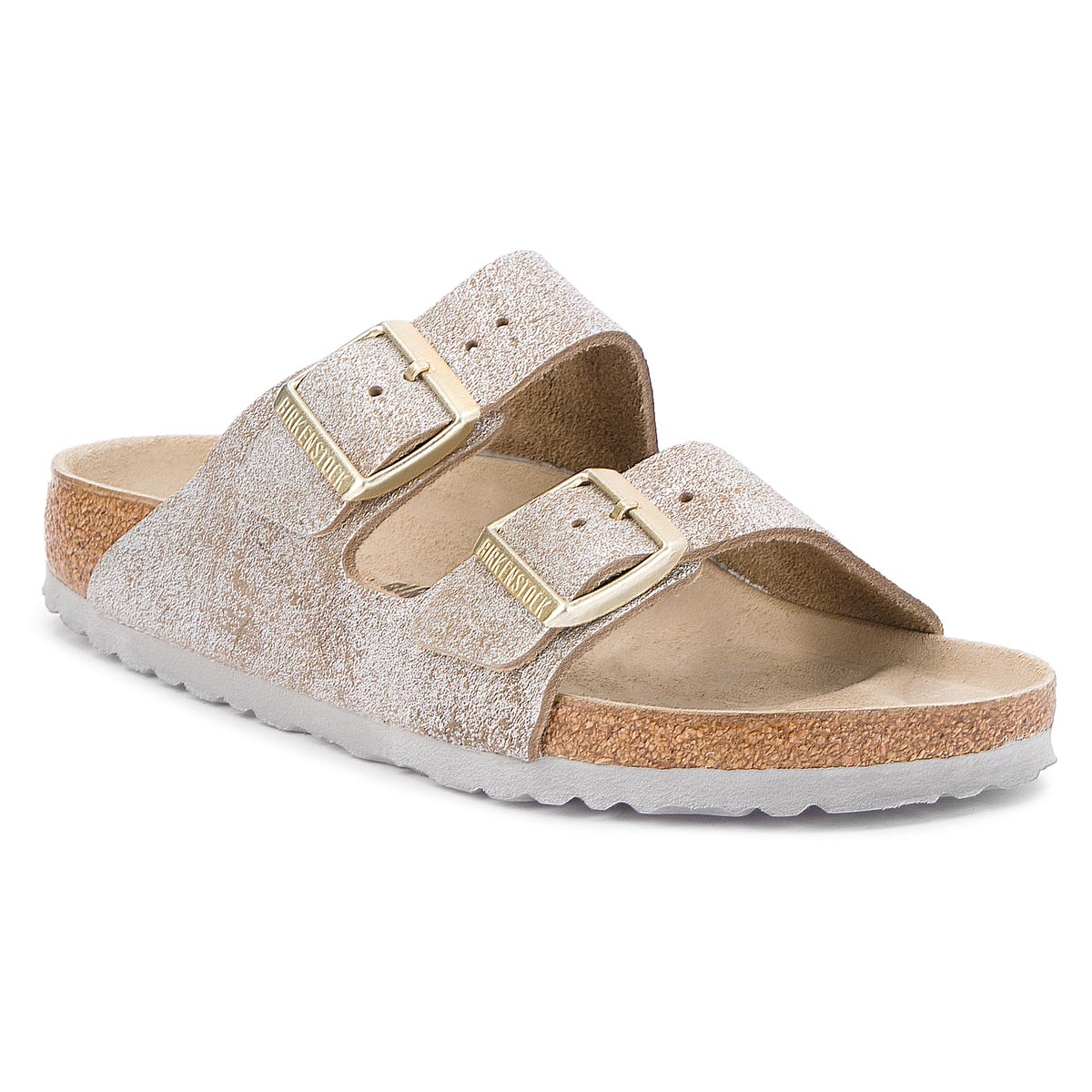 Klapki BIRKENSTOCK - Arizona Bs 1008796 Washed Metallic Blue Silver