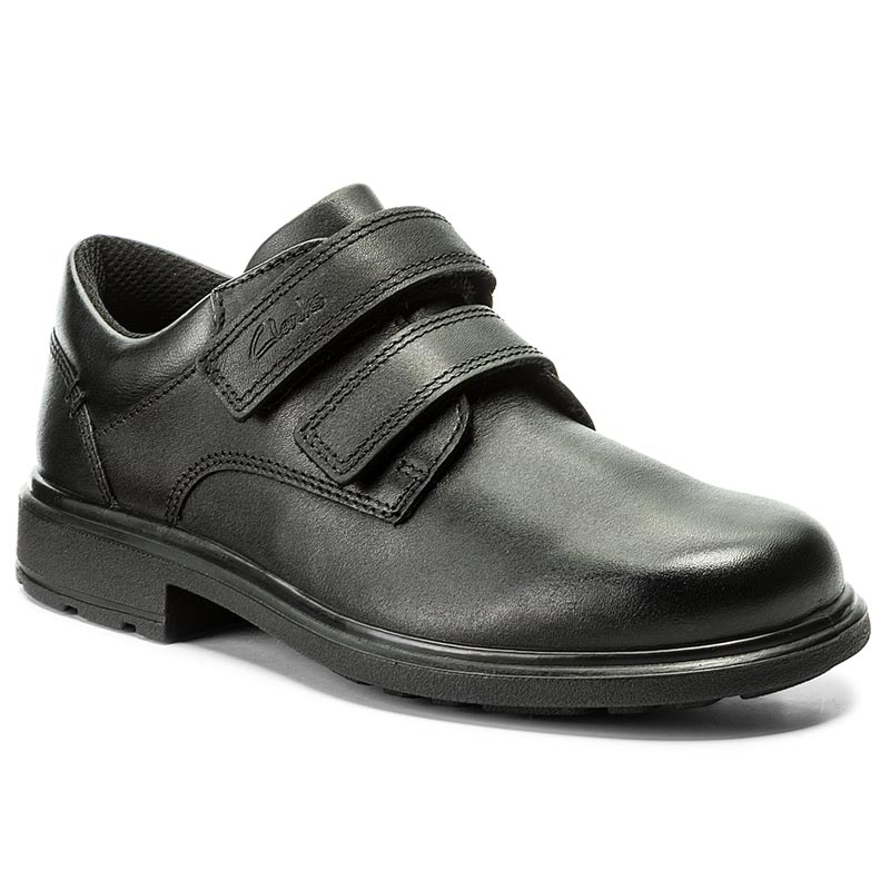 Półbuty CLARKS - Remi Pace Jnr 261268276 Black Leather