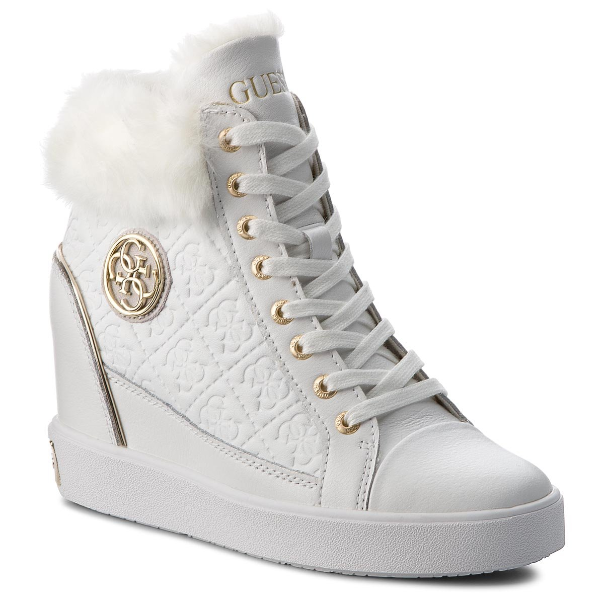 Sneakersy GUESS - FLFRR3 LEP12 WHITE