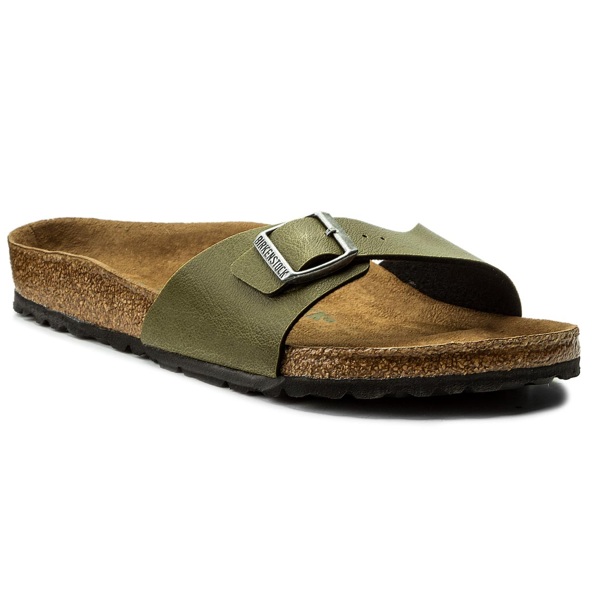 Klapki BIRKENSTOCK - Madrid Bs 1009984 Pull Up Olive