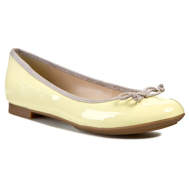Baleriny CLARKS - Carousel Ride 261069934 Pale Yellow Pat