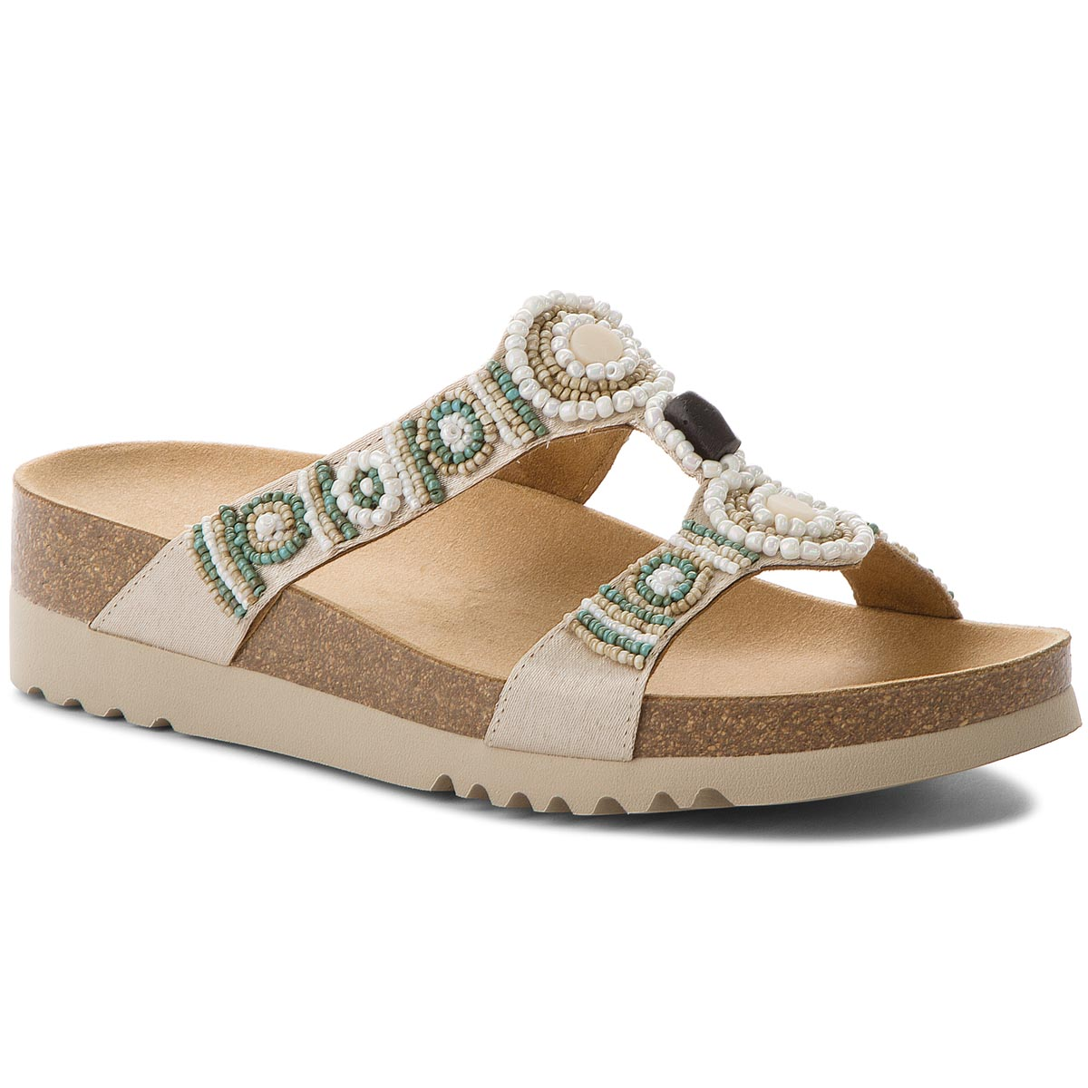 Klapki SCHOLL - New Bogota Wedge F26607 1015 380 Cream