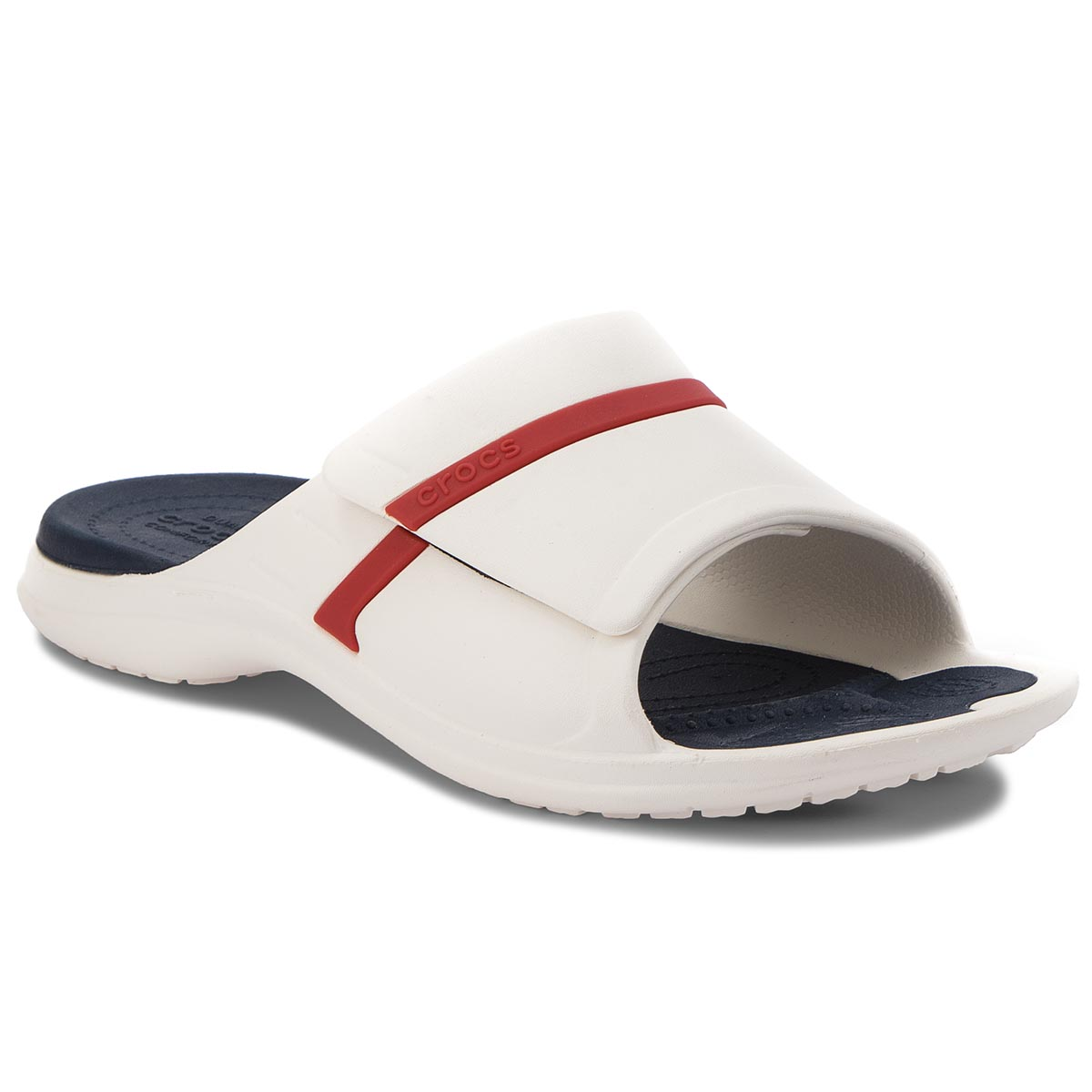 Klapki CROCS - Modi Sport Slide 204144 White/Navy/Pepper