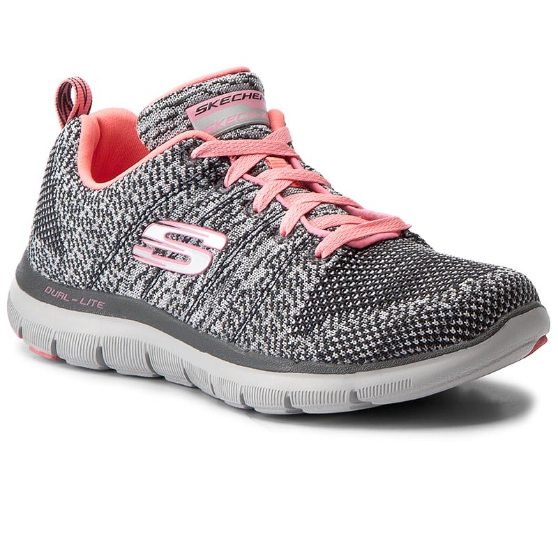 Buty SKECHERS - High Energy 12756/CCCL Charcoal/Coral