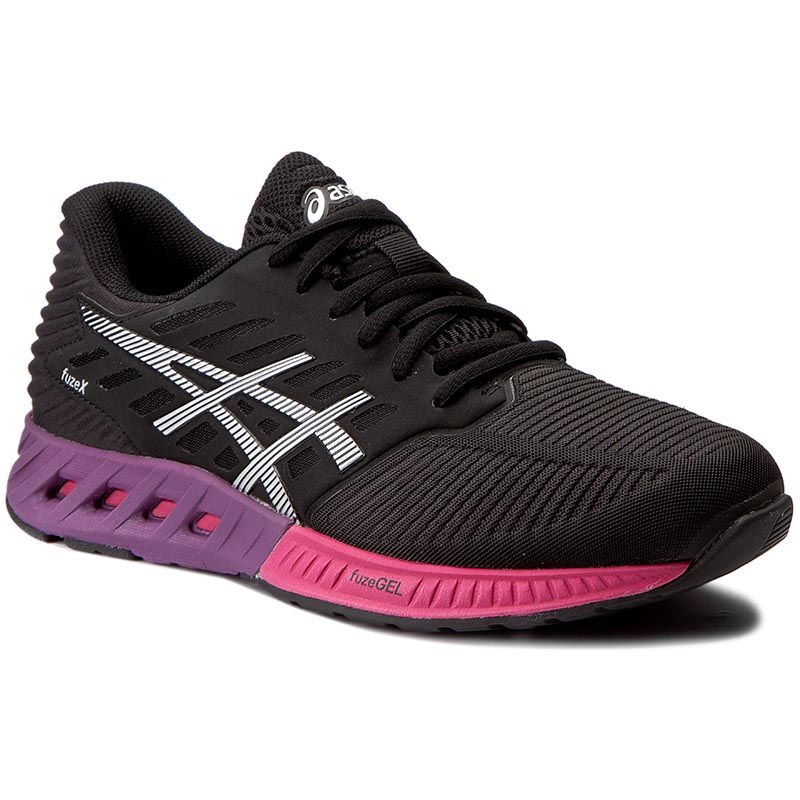 Buty ASICS - FuzeX T689N Black/Silver/Pink Peacock 9093