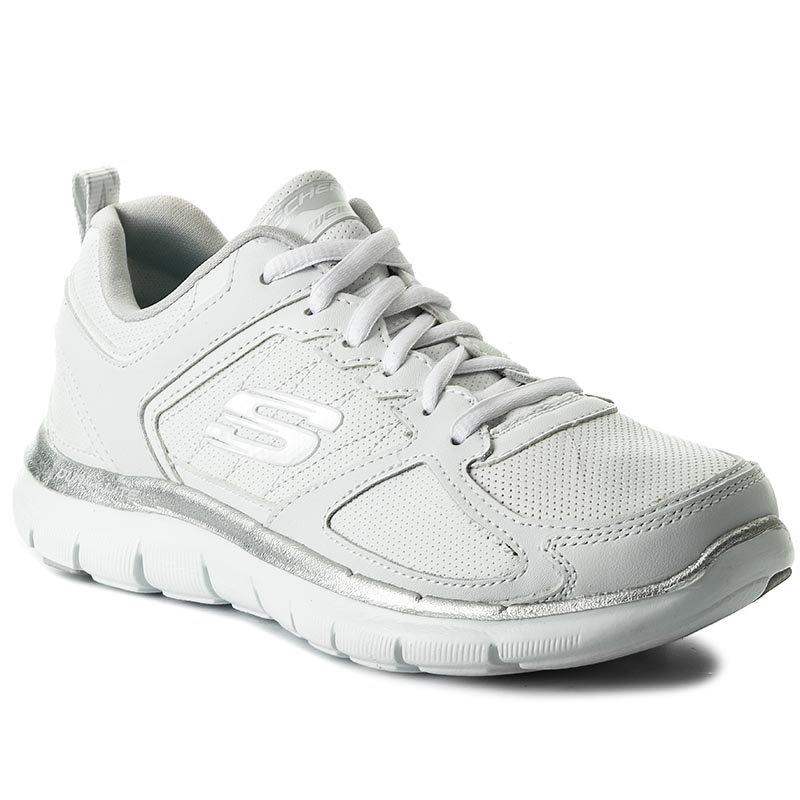 Buty SKECHERS - Good Timing 12755/WSL White/Silver