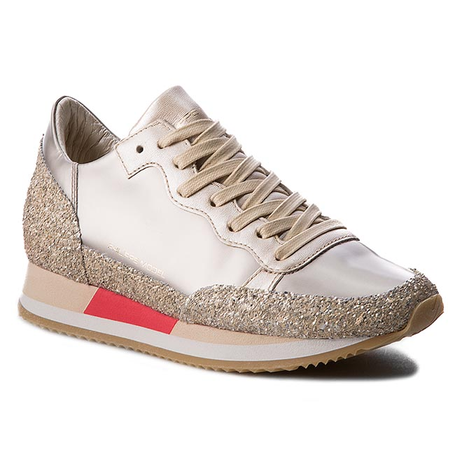 Sneakersy PHILIPPE MODEL - Bright CHLD MG14 Metallic Plati/Sand