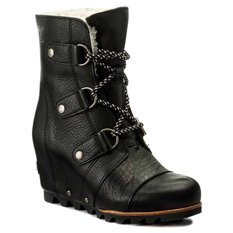 Botki SOREL - Joan Of Arctic Wedge Mid Shearling NL2703 Black/Ancient Fossil