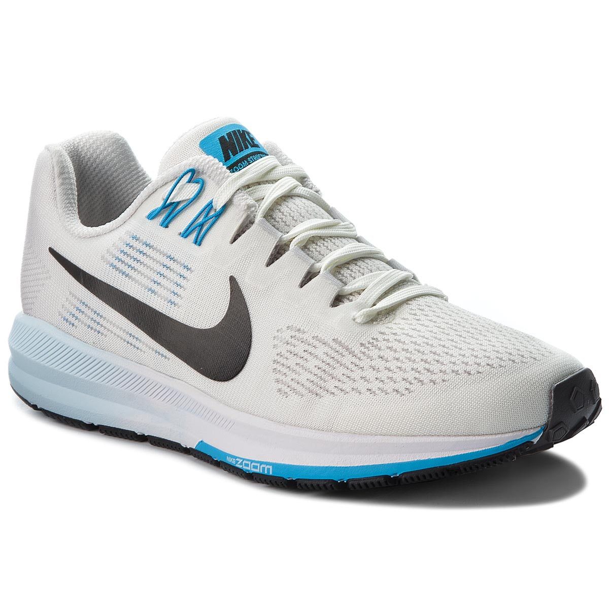 Buty NIKE - Air Zoom Structure 21 904701 007 Vast Grey/Black/Sail