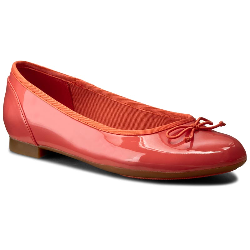 Baleriny CLARKS - Couture Bloom 261227794 Coral Patent