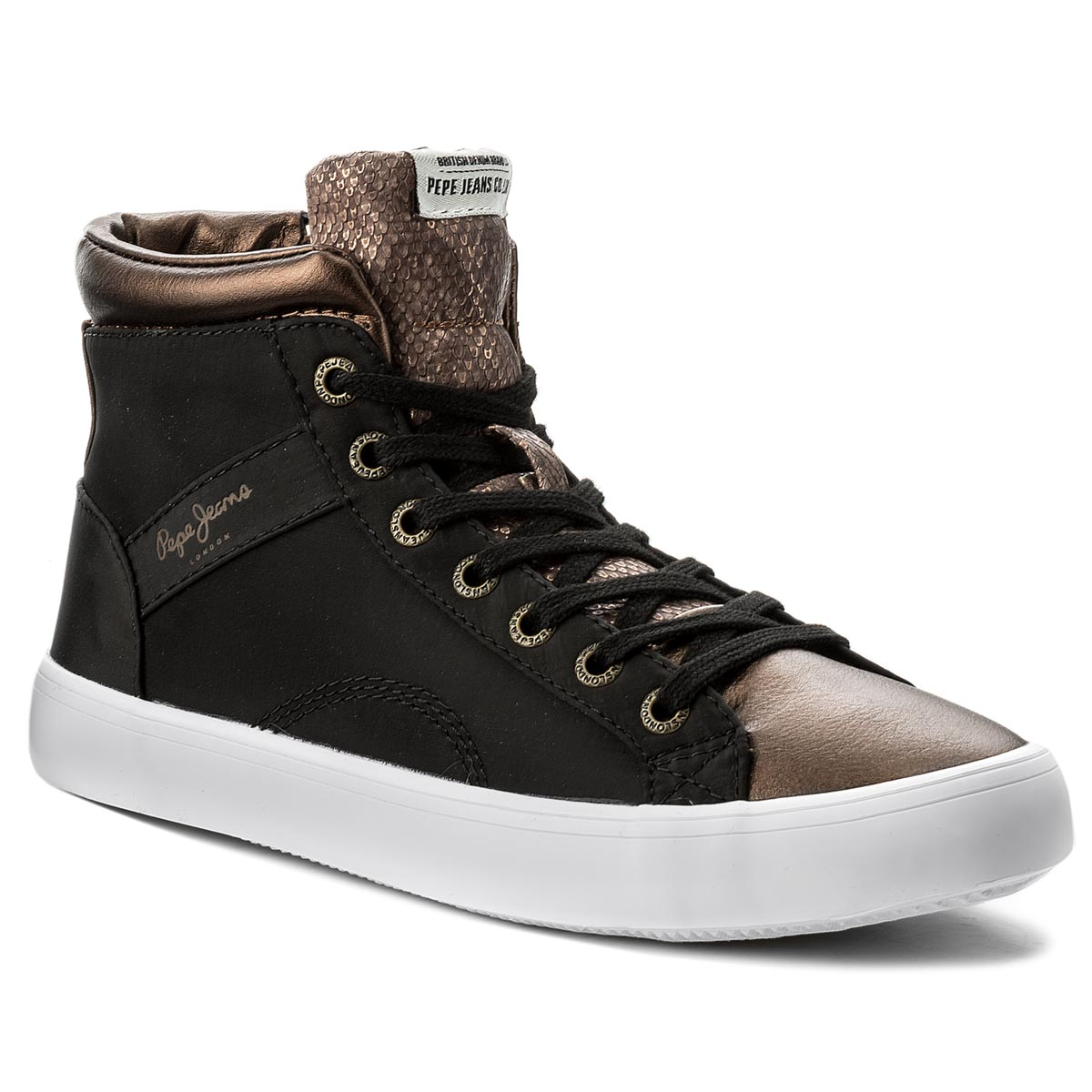 Sneakersy PEPE JEANS - Clinton Stars PLS30569  Black 999