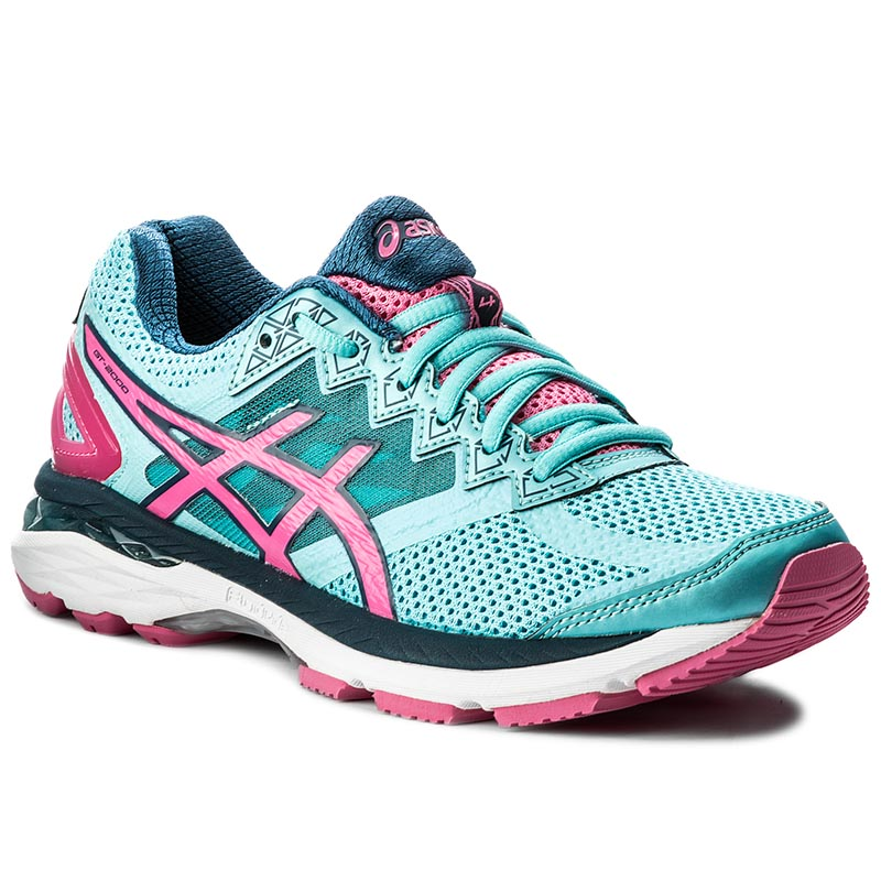 Buty ASICS - Gt-2000 4 T656N Turquoise/Hot Pink/Autumn Glory 4034