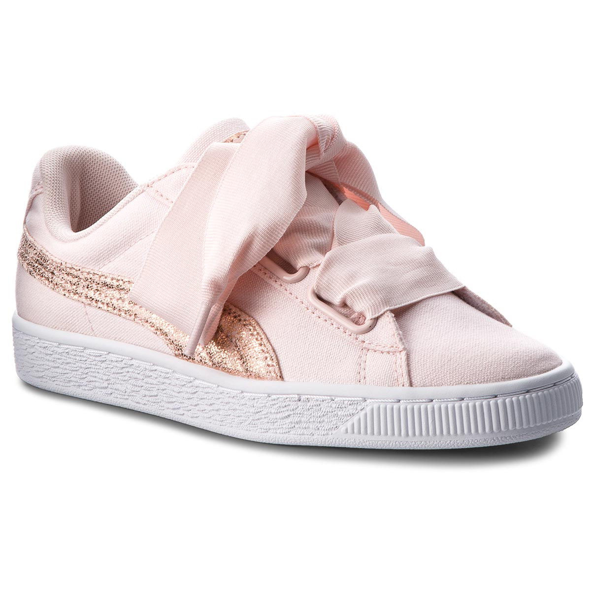 Sneakersy PUMA - Basket Heart Canvas 366495 02 Pearl/Puma White/Rose Gold