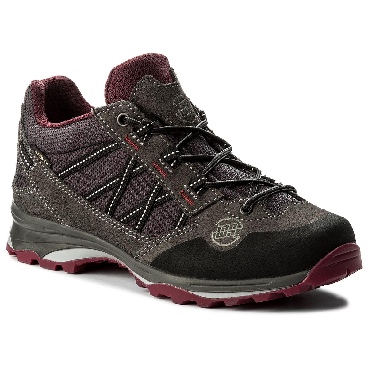 Buty HANWAG - Belorado II Low Lady Gtx GORE-TEX 201201-064356 Asphalt/Dark Garnet