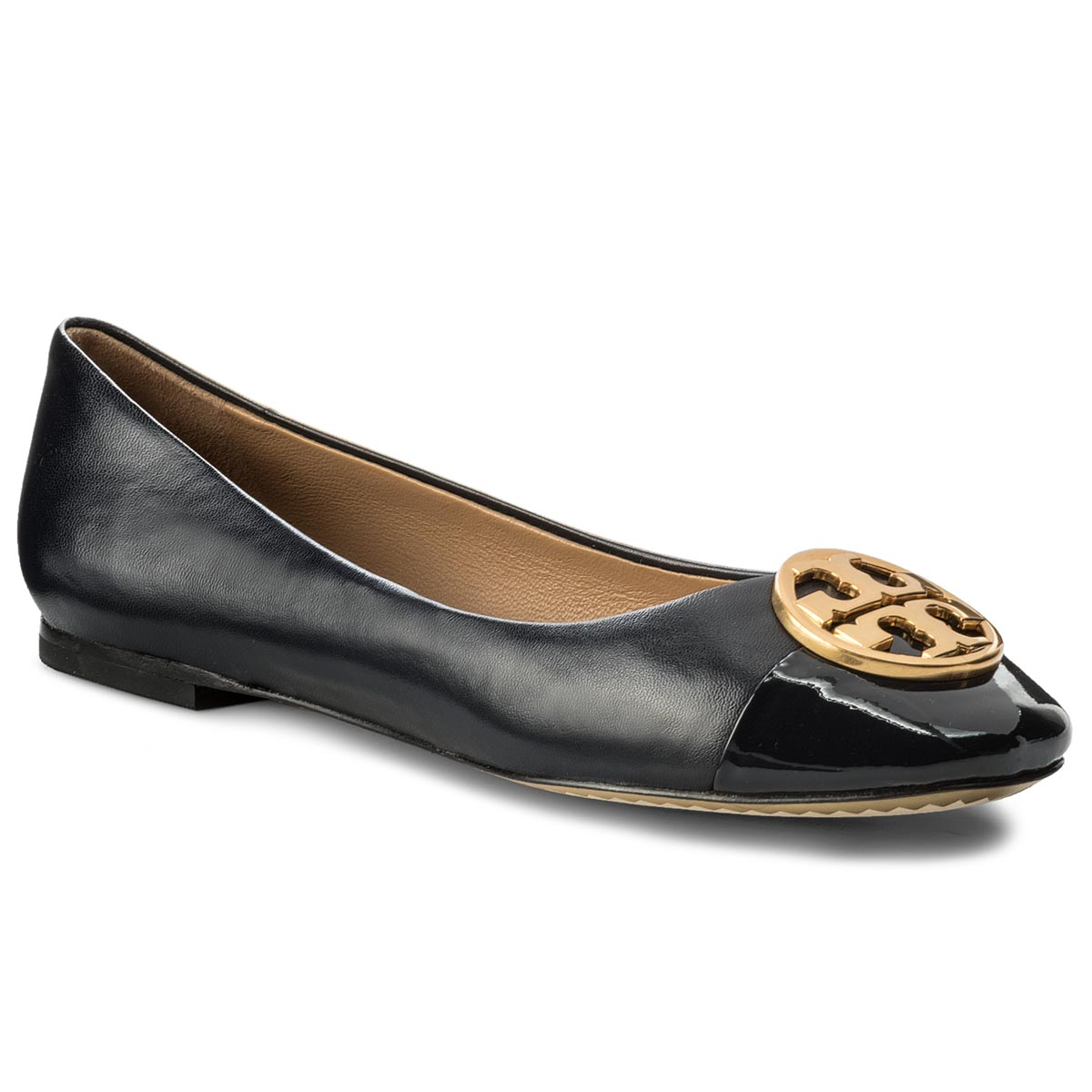Baleriny TORY BURCH - Chelsea Cap - Toe Ballet 46882 Perfect Navy 416
