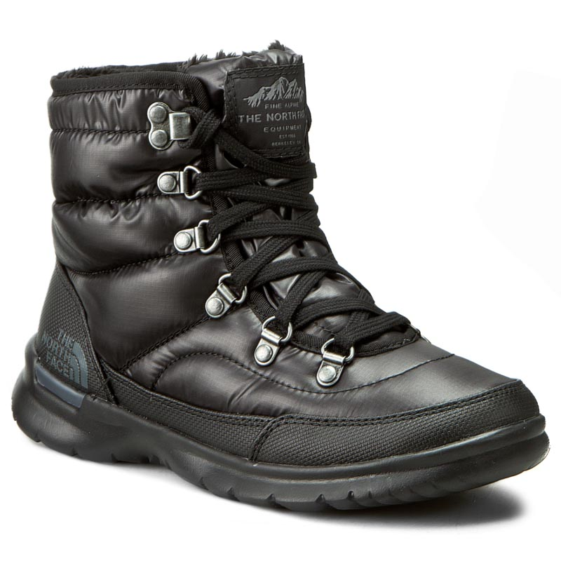 Śniegowce THE NORTH FACE - Thermoball Lace II T92T5LNSW Shiny TNF Black/Iron Gate Grey