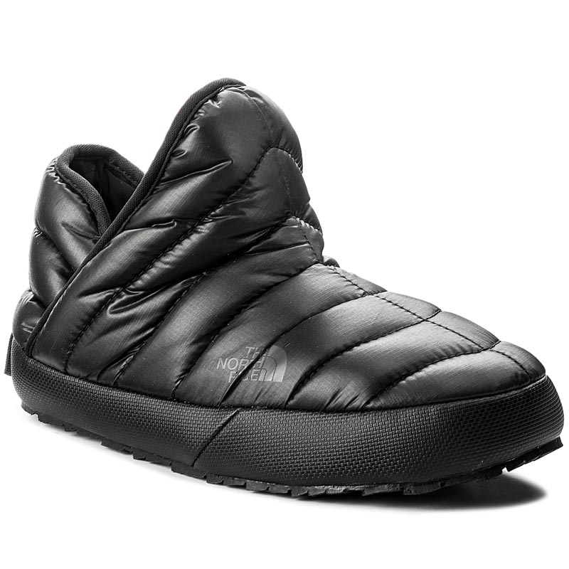 Kapcie THE NORTH FACE - Thermoball Traction Bootie T933IHYWY-050 Shiny Tnf Black/Beluga Grey