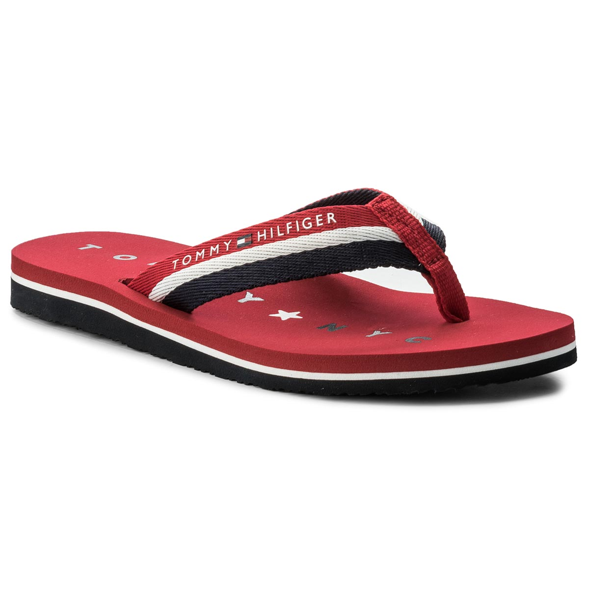 Japonki TOMMY HILFIGER - Tommy Loves Ny Beach Sandal FW0FW02370 Tango Red 611