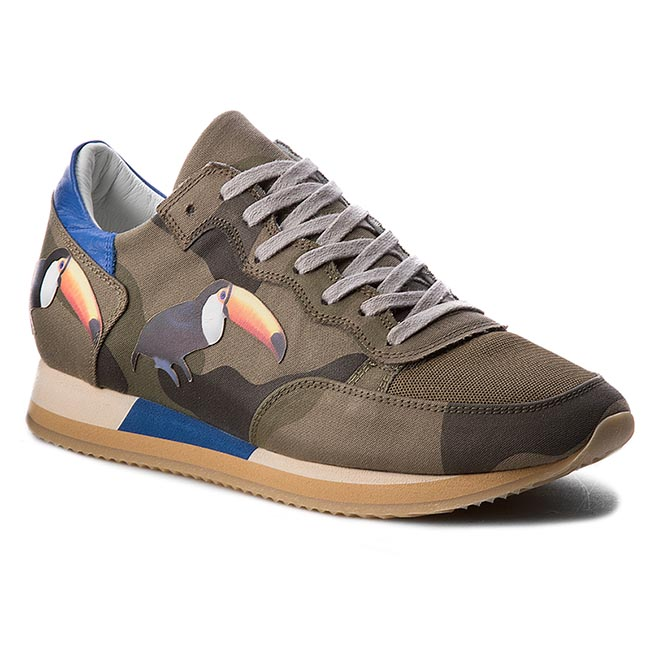Sneakersy PHILIPPE MODEL - Tropez TBLU BC01 Birds Green Toucan