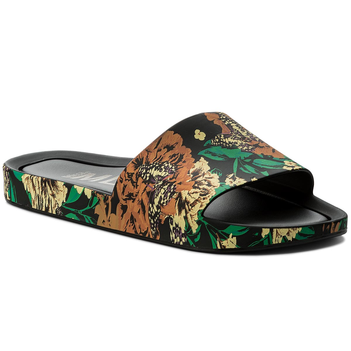 Klapki MELISSA - Beach Slide III Ad 32276 Black/Green 52235