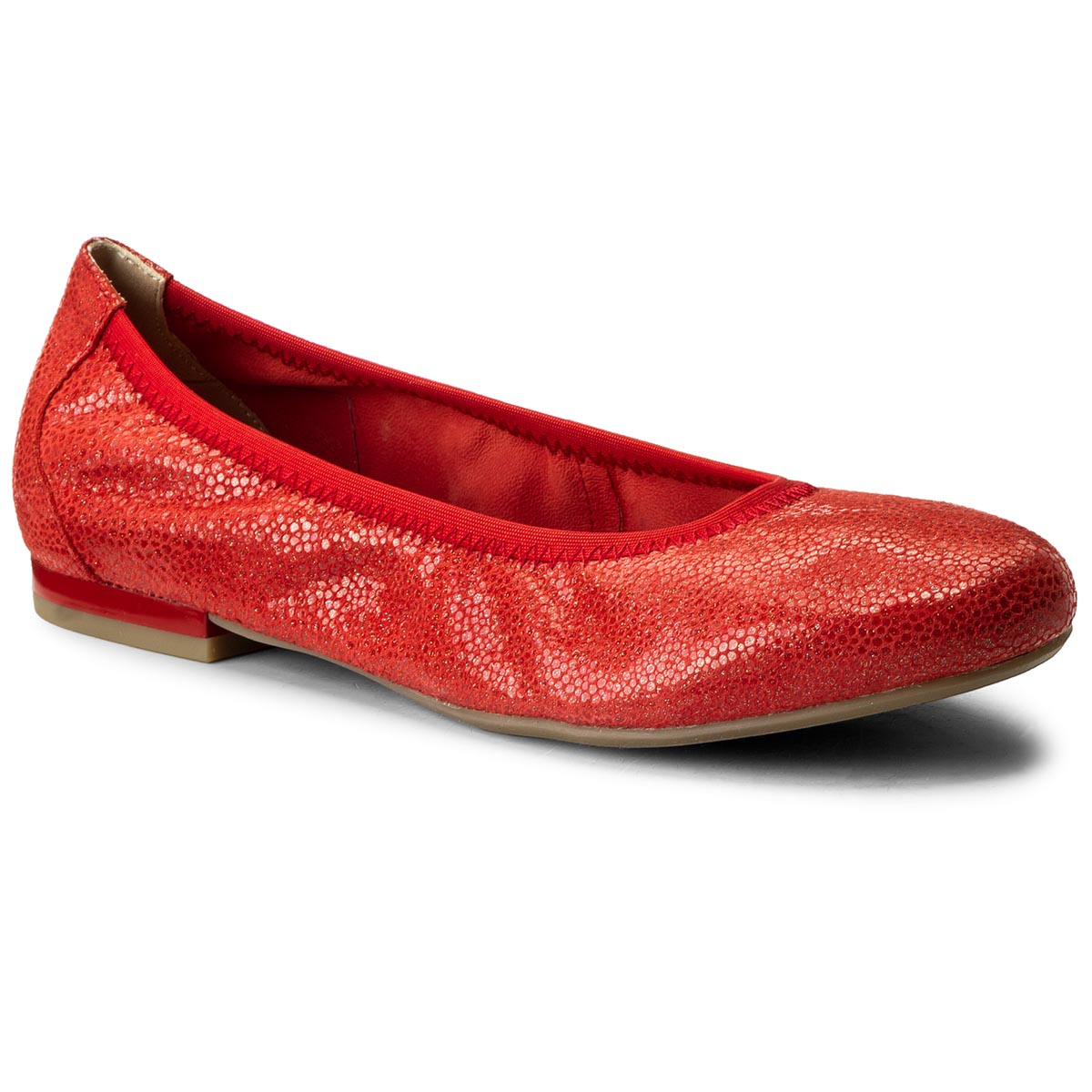 Baleriny CAPRICE - 9-22100-20 Red Multi 538