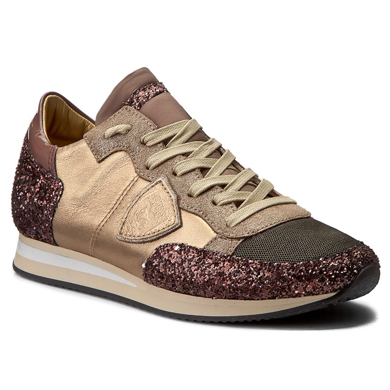 Sneakersy PHILIPPE MODEL - Tropez TRLD GM23 Glitter Bronze/Vin
