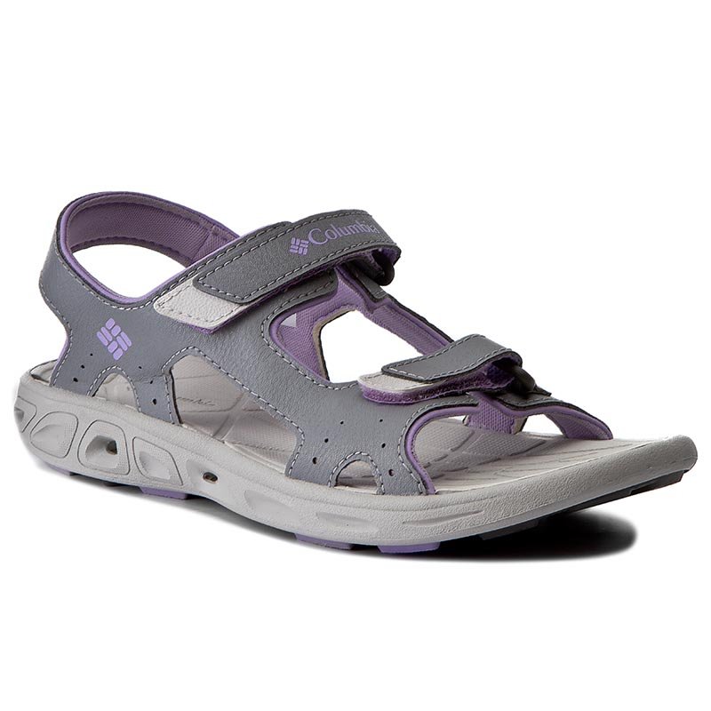 Sandały COLUMBIA - Youth Techsun Vent BY4566 Tradewinds Grey/White Violet