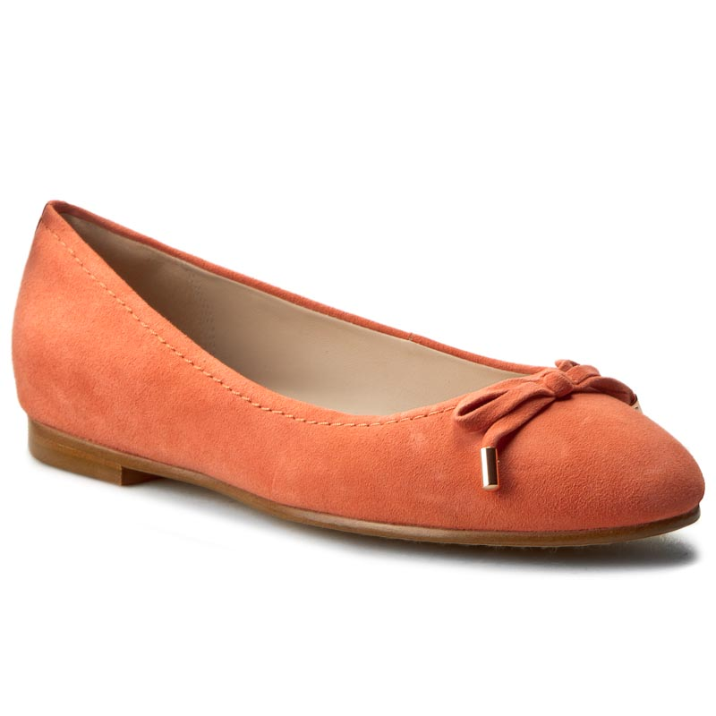 Baleriny CLARKS - Grace Lily 261230564 Coral Suede