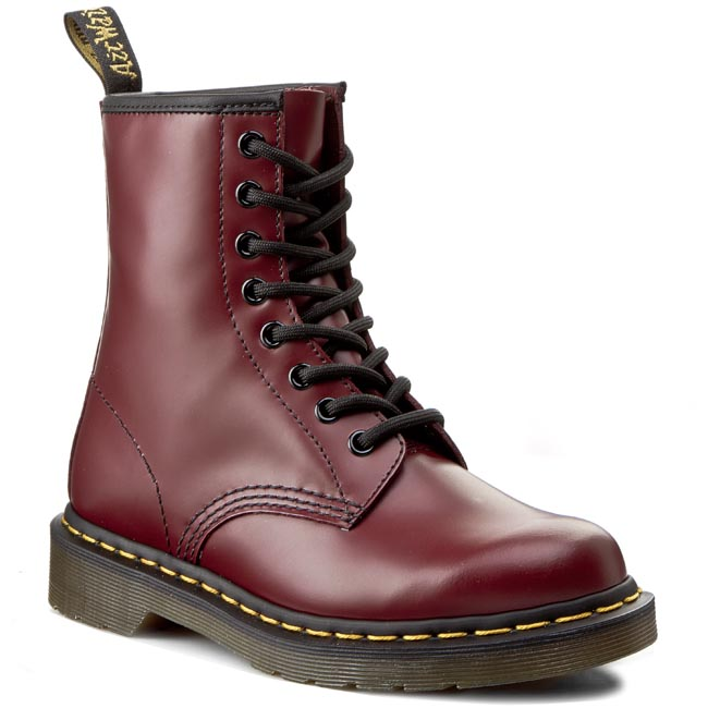 Glany DR. MARTENS - 1460 10072600 Cherry Red Smooth