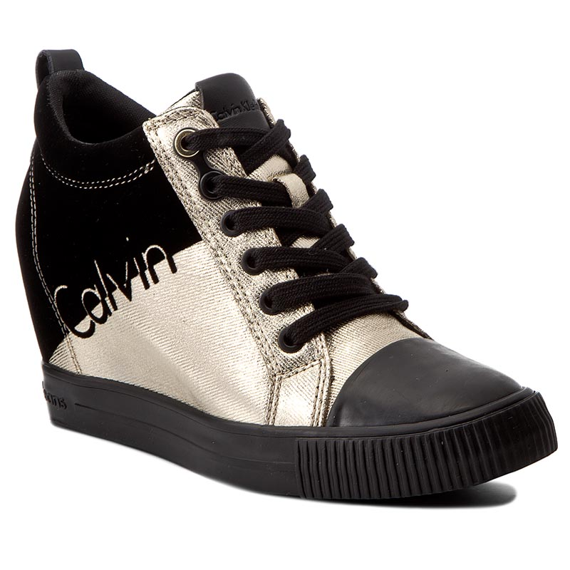 Sneakersy CALVIN KLEIN JEANS - Rory R0646  Gold/Black