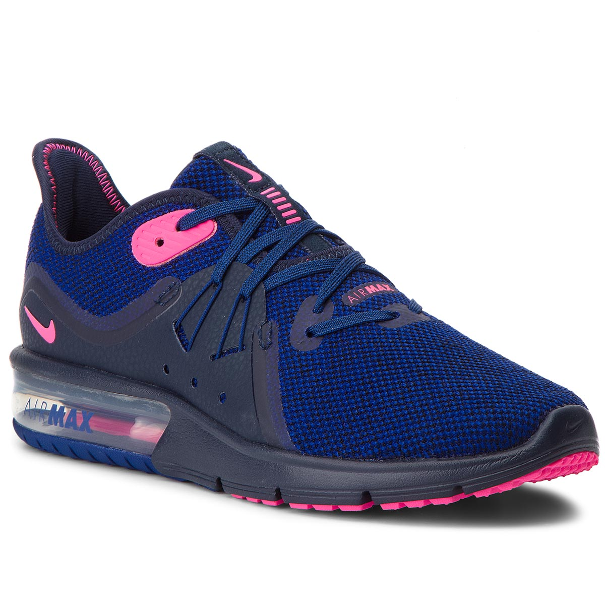 Buty NIKE - Air Max Sequent 3 908993 403 Obsidian/Pink Blast