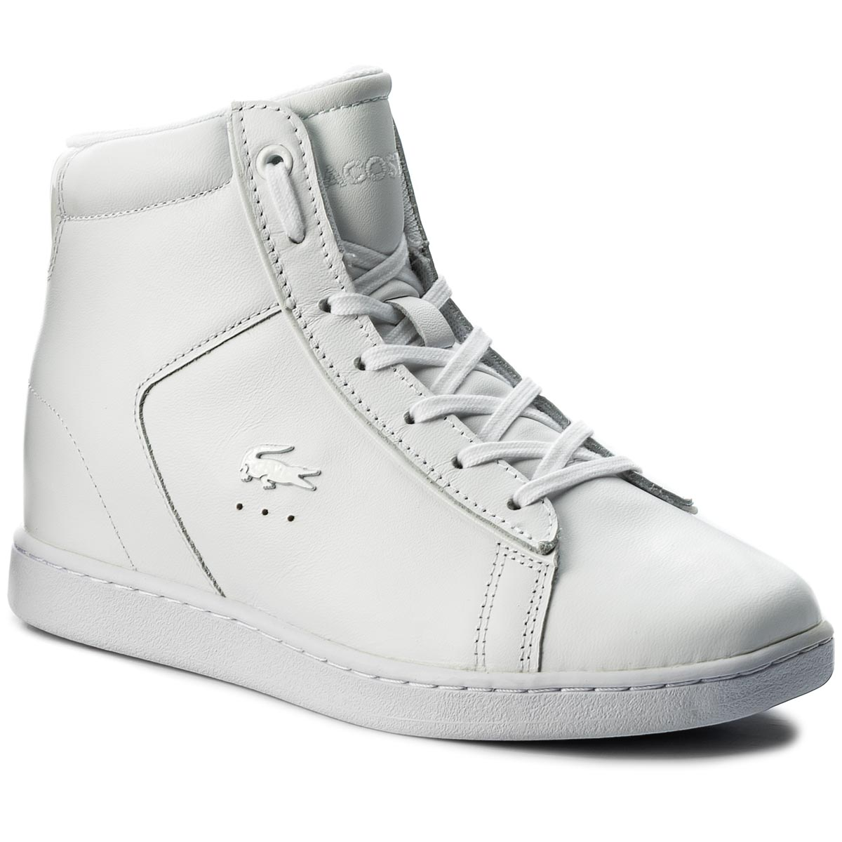 Sneakersy LACOSTE - Carnaby Evo Wedge 417 1 Spw 7-34SPW0017001 Wht