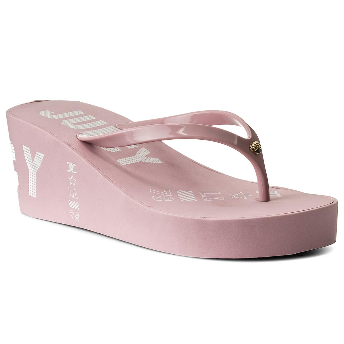 Japonki JUICY COUTURE - Natalie Rubber JB150-DPK Dusty Pink