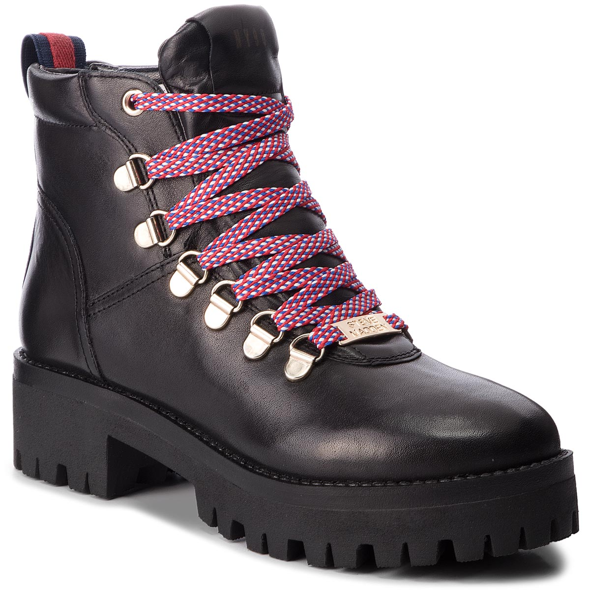 Trapery STEVE MADDEN - Boomer Ankle Boot SM11000245-03001-017 Black Leather